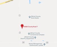 Map for Elkhart County Sheriff's Department